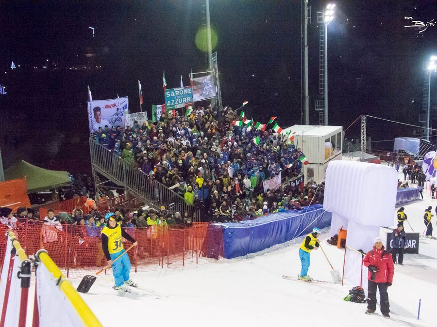Audi Fis Giant Night Slalom Madonna di Campiglio Tribuna