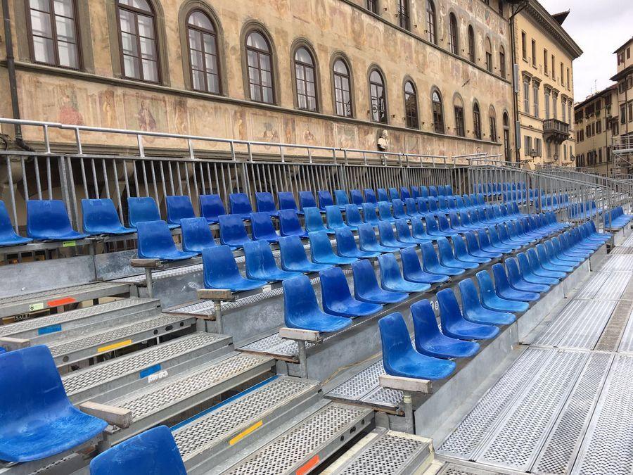 Calcio Storico Fiorentino - Firenze Vista tribuna su scocca
