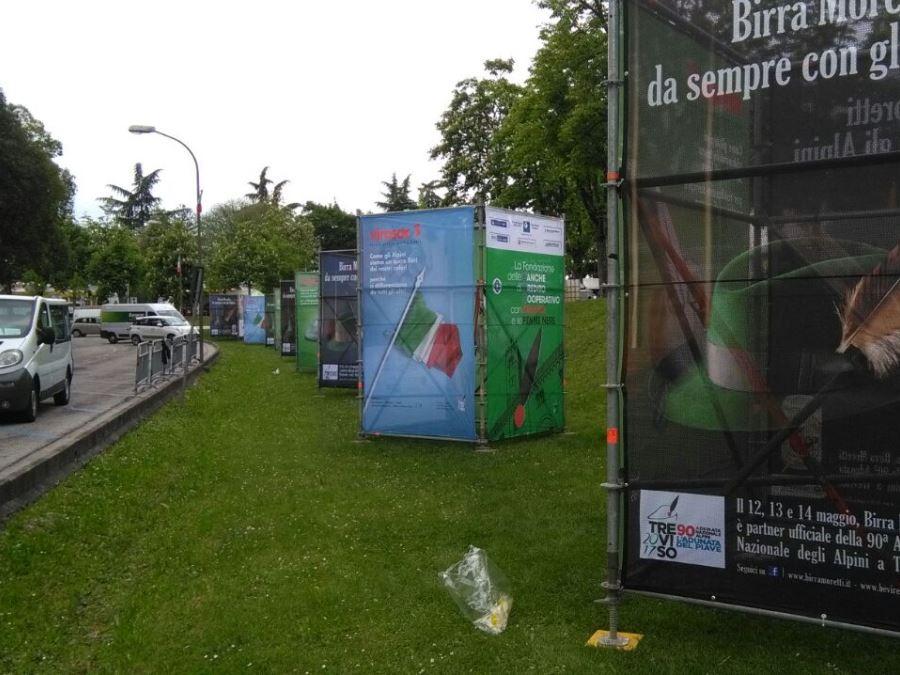 Adunata Nazionale Alpini_Treviso_Totem Pubblicitario